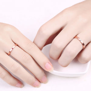 Rose gold stackable rings