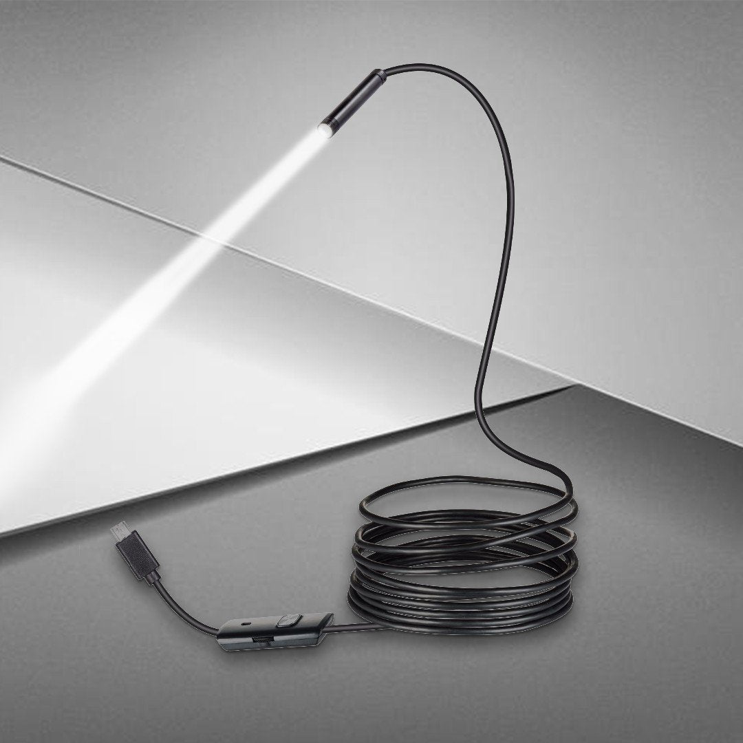 Waterproof Wireless Endoscope with 4K High-Definition Snake-Shaped Camera