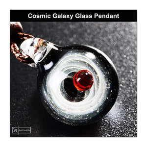 Cosmic Galaxy Glass Pendant - dailytravelvibe