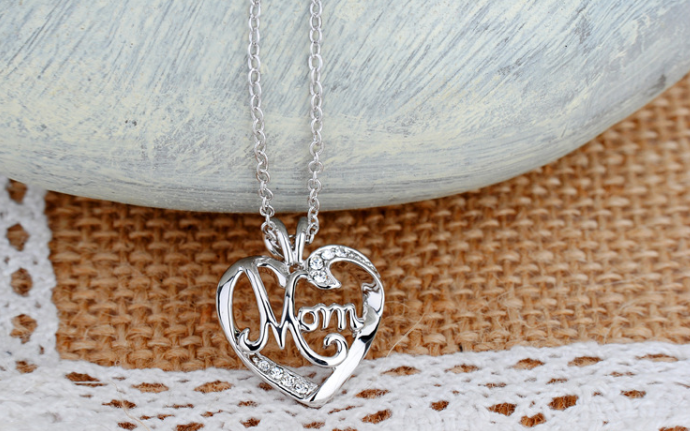 50% OFF TODAY! I Love You Mom Love Heart Necklace 925 Sterling Silver