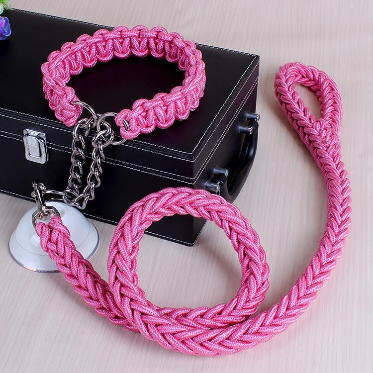Chain Leash Collar Dog Rope - Carrywon