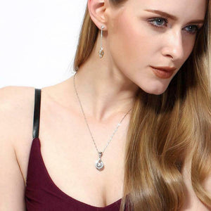 Twinkling Heart Waterdrop Stone Necklace-BUY 1 GET 1 FREE
