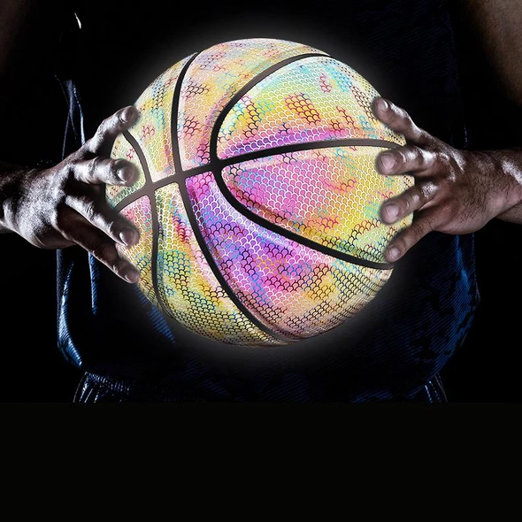 50% OFF TODAY! Holographic Glowing Reflective Basketball (FREE SHIPPING)