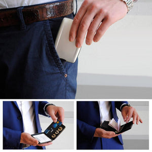 RFID secure wallet for cash and cards