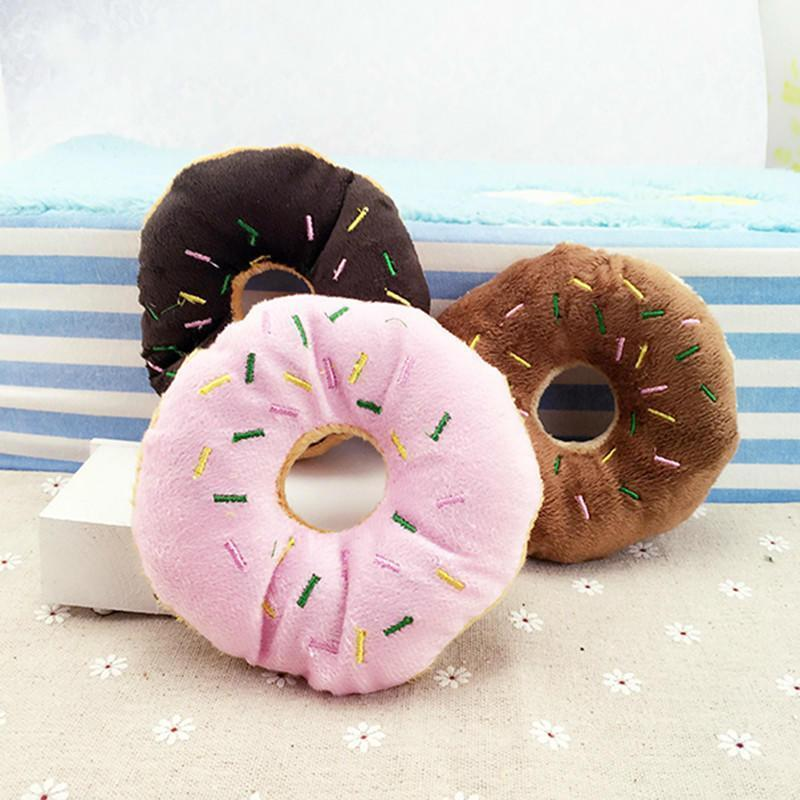Lovely Doughnut Shape Pet Sound Mini Chew Toys - Carrywon