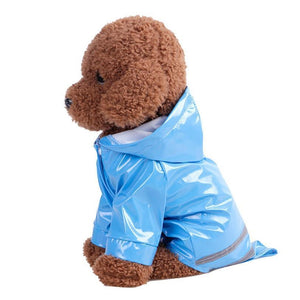 3 COLORS PET RAINCOAT PUPPY SOFT WATERPROOF