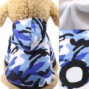 Camouflage Uniforms Handsome Pet Two-legged Hoodies - Carrywon