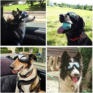 Dog UV Goggles Waterproof Windproof Pet Sunglasses for Large Or Medium Dogs - Carrywon