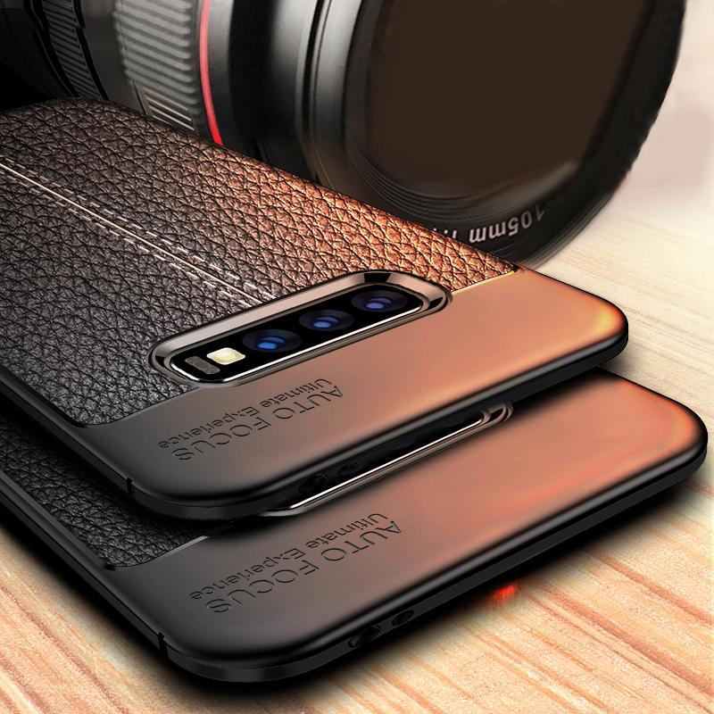 Leather Silicone Soft Case For Samsung Galaxy
