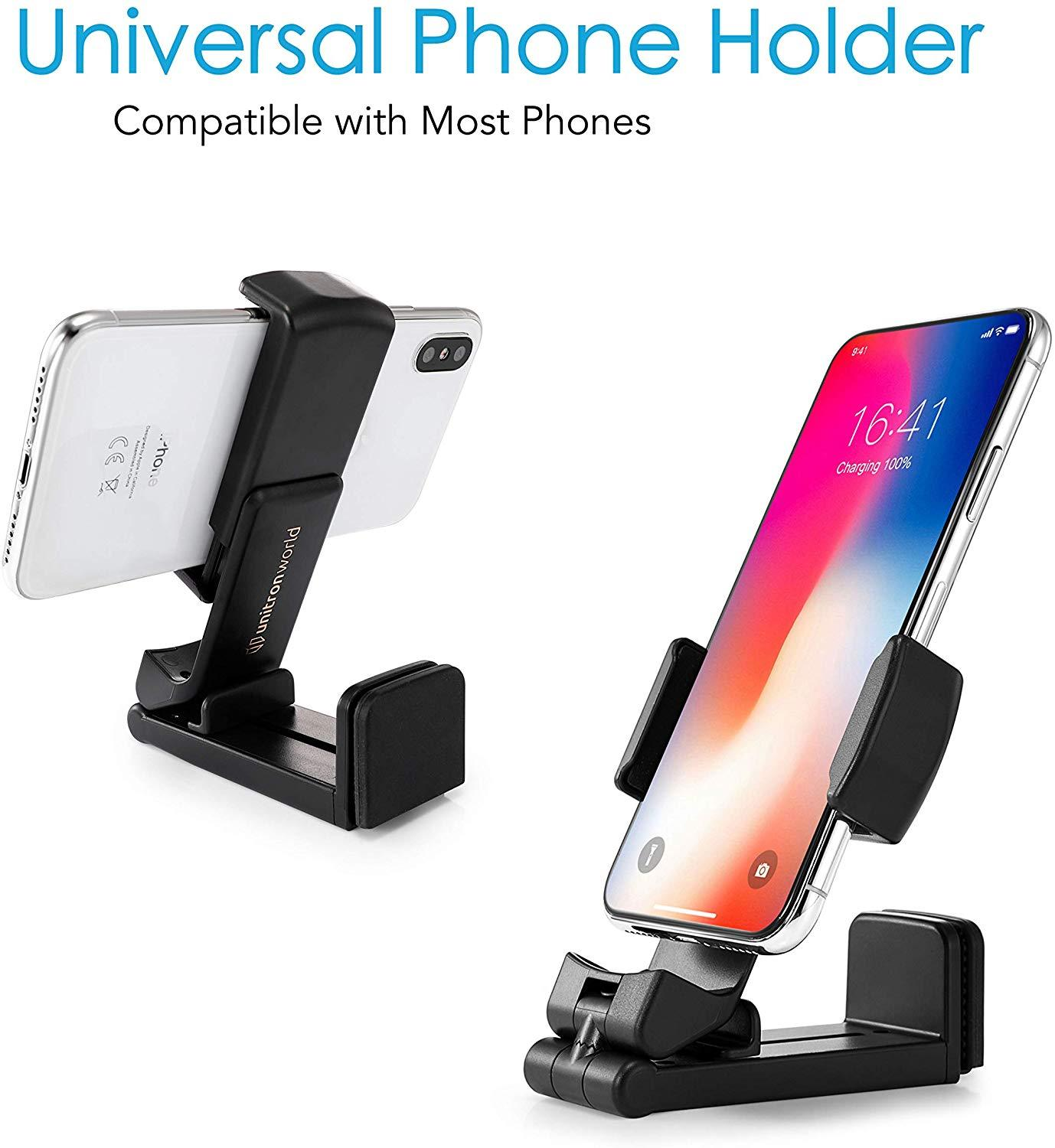 unitron world Universal Cell Phone Stand Phone Holder for Desk Airplane Flight, And Travel