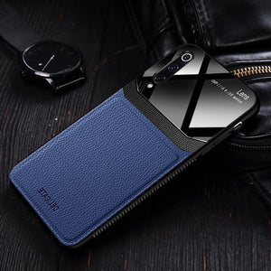 Leather Mirror Silicone Shockproof Case for Samsung