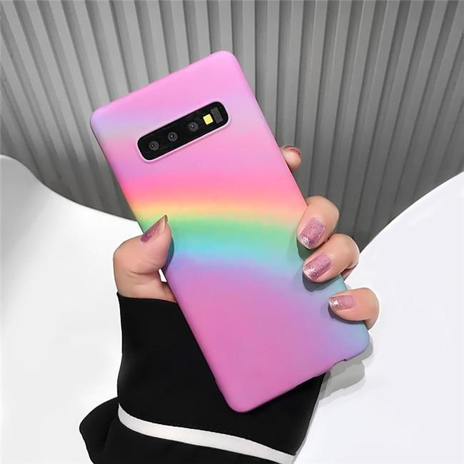 Rainbow Matte Hard Plastic Cases For Samsung