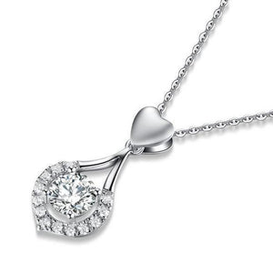 (70% OFF TODAY ONLY)Twinkling Heart Waterdrop Stone Necklace