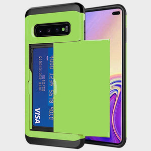 Slide Armor Wallet Card Slots Holder For Samsung