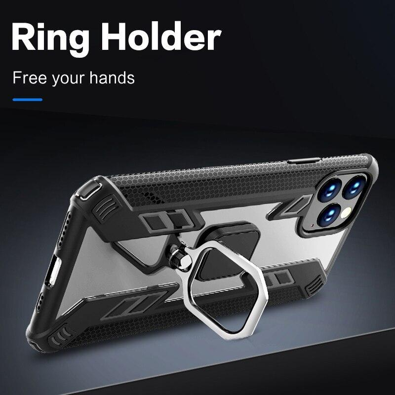 Airbag Protection Magnetic Ring Holder Case For iPhone