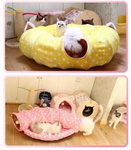 Colorful Cat Tunnel Bed