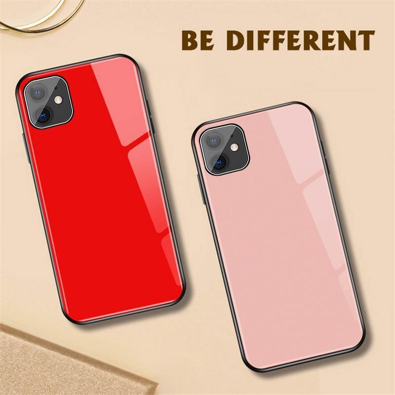 Luxury Tempered Glass Phone Cases For iPhone