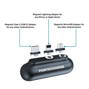 PortaCharge One - PortaCharge - MyPortaCharge - Mini Magnetic Portable Charger Wireless Power Bank iPhone Android
