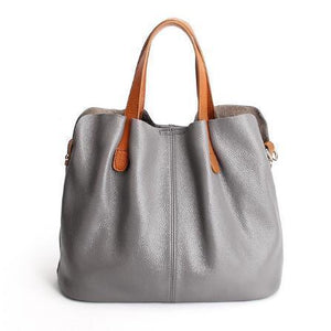 2 In 1 Leather Shopper Tote Bag (2019)