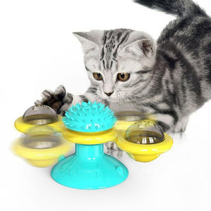 Windmill Cat Toy-Buy 2 Get Free Gift Grooming Glove