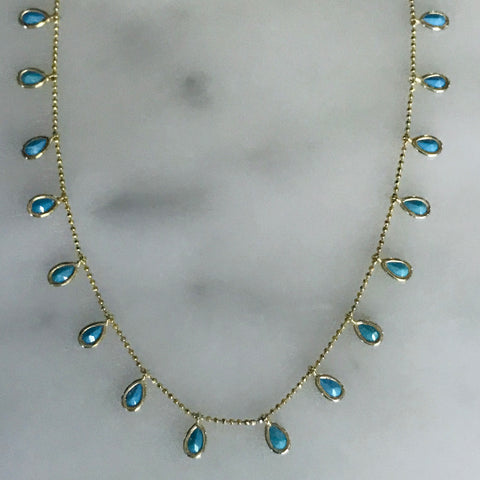 turquoise drops necklace