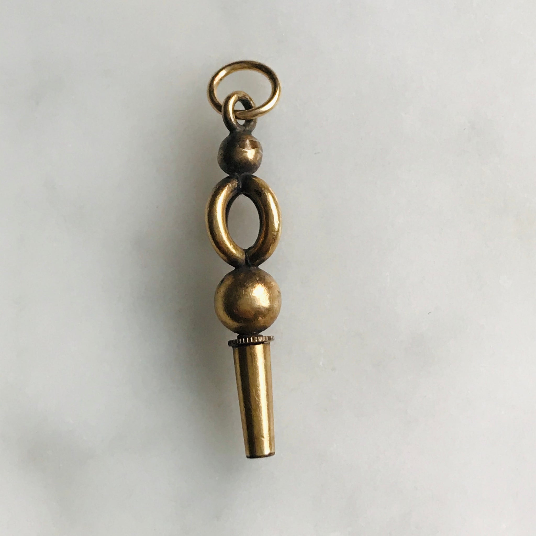 antique gold filled watch key