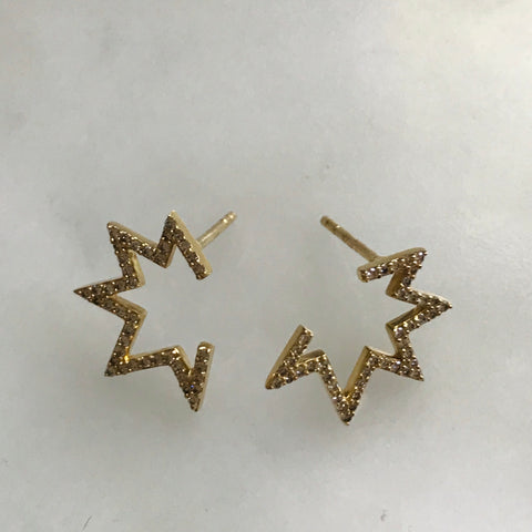 diamond boom earrings