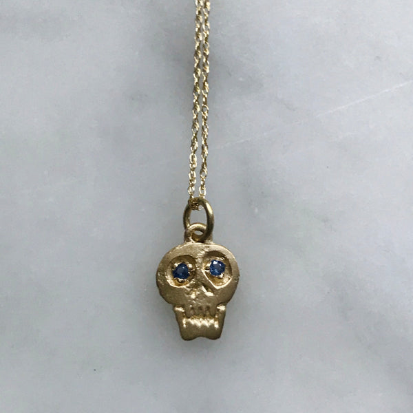 14k gold skull necklace