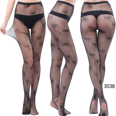 Cool Star Printed Fishnet Tights