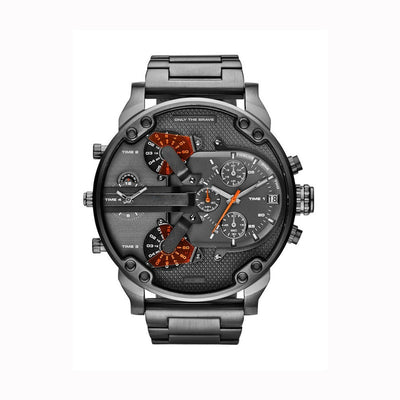 Stainless Steel Large Dial  Wristwatch for men