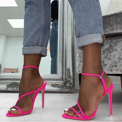 Women Peep Toe High Heel Shoes