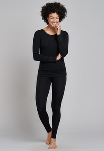 Leggings termici lana/tencel - Donna