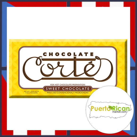 CORTES Sweet Chocolate Bar / Chocolate en Barra CORTES