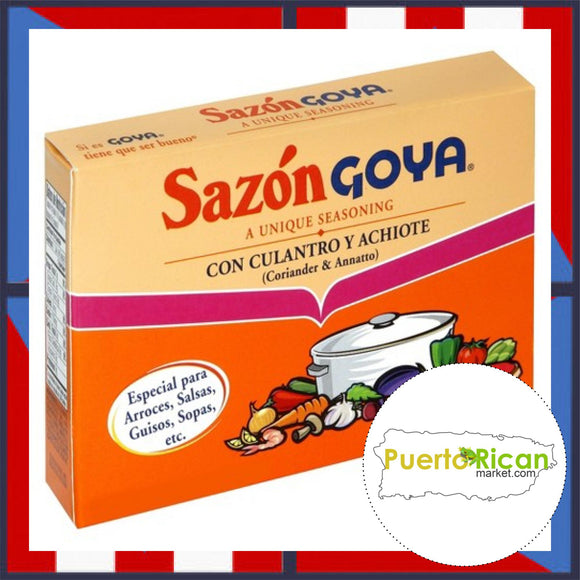 GOYA Seasoning with Coriander and Annatto / Sazon con Culantro y Achiote GOYA