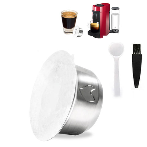 Reusable Stainless Steel Coffe Capsule Kit For Nespresso Vertuo Series Home DIY Cafe Brewing Machine Coffee ware