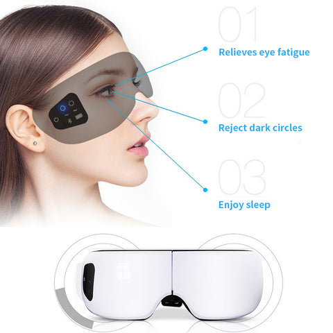 Portable Electric Air pressure Eye Massager Folding Therapy Relax Vibration Eyes Care Device Infrared Heating Massager