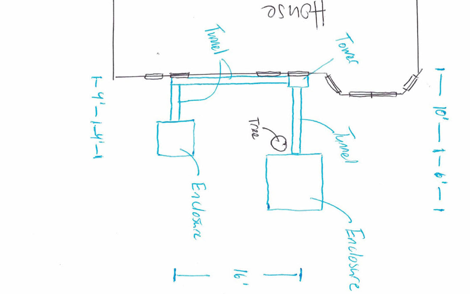 example drawing of catio layout plan