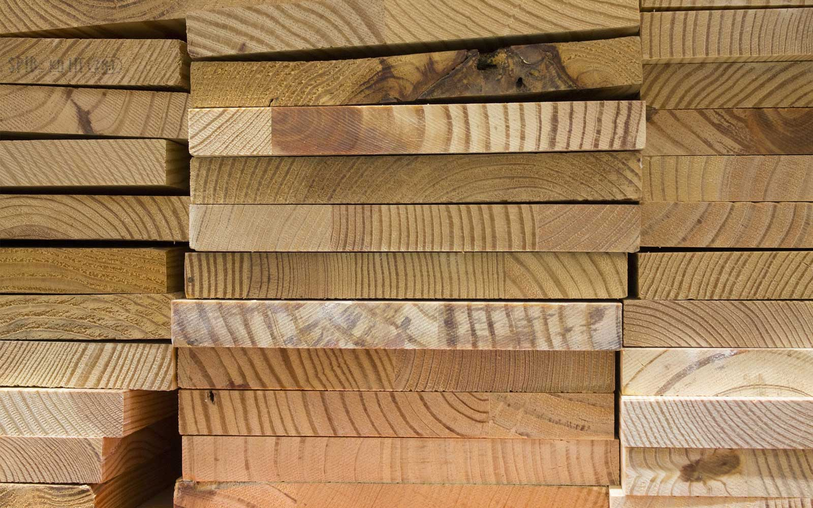stack of lumber boards