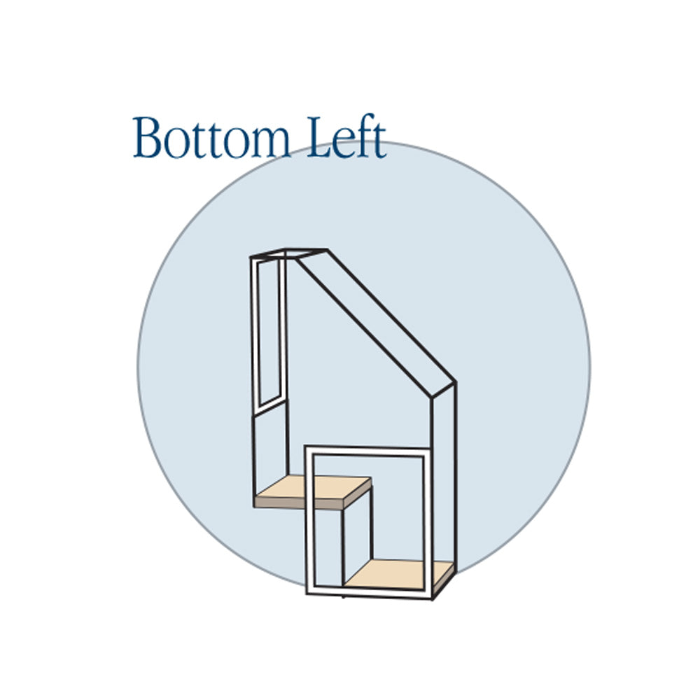 2 Step Stairs - Bottom Left - Habitat Haven