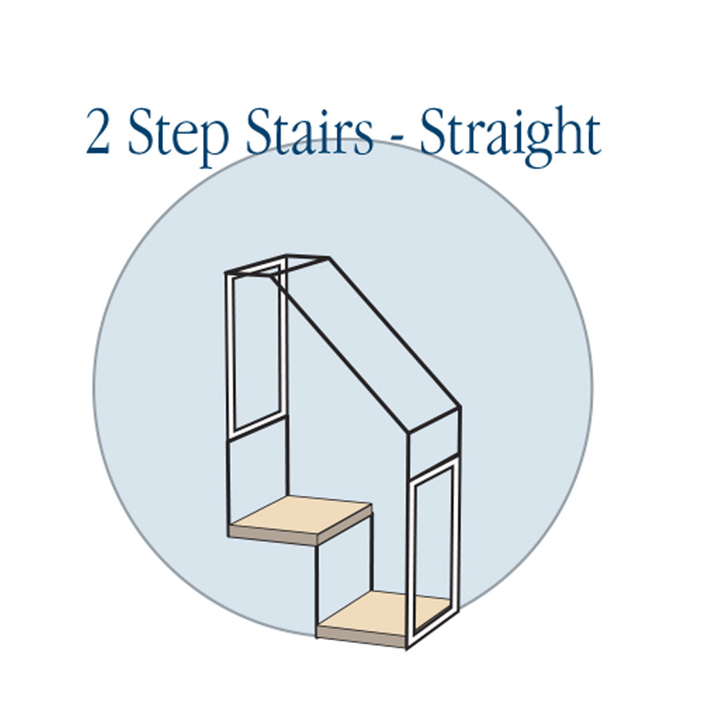 2 Step Stair - Straight - Habitat Haven