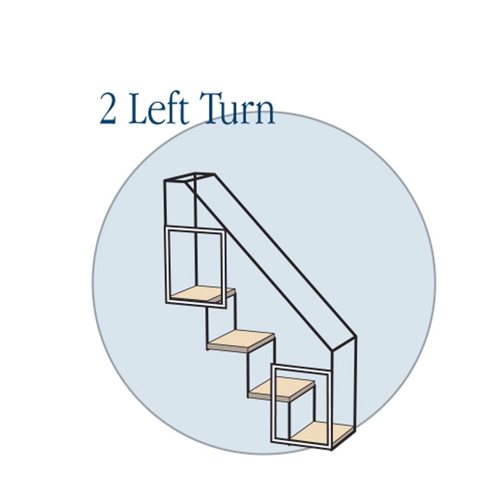 4 Step Stairs - Two Left Turns - Habitat Haven