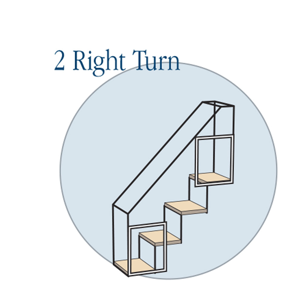 4 Step Stairs - Two Right Turns - Habitat Haven