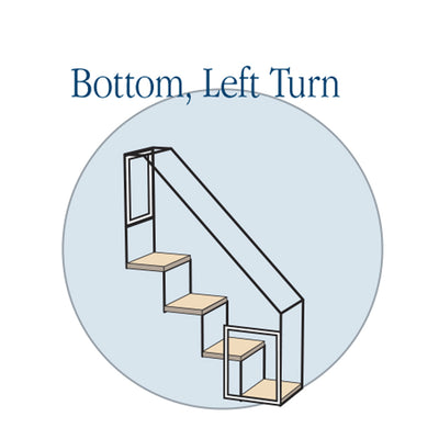 4 Step Stairs - Bottom Left Turn - Habitat Haven