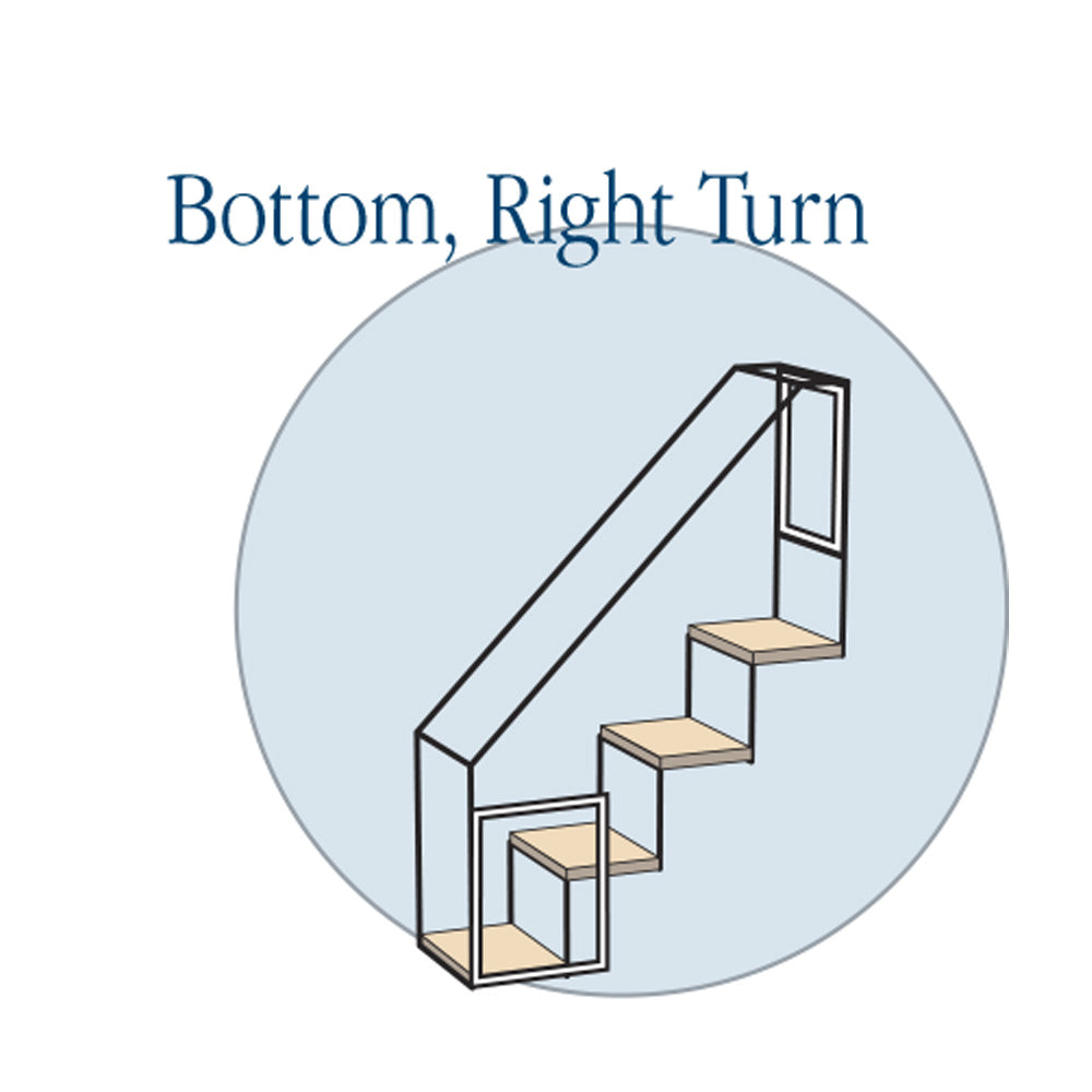 4 Step Stairs - Bottom Right Turn - Habitat Haven