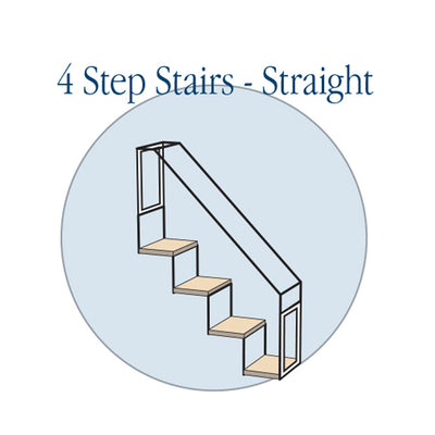4 Step Stair - Straight - Habitat Haven