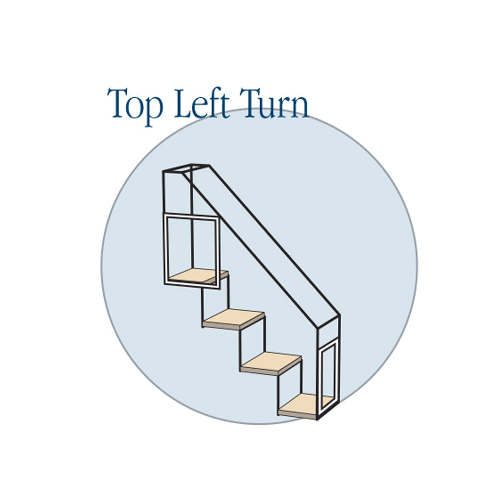 4 Step Stairs - Top Left Turn - Habitat Haven