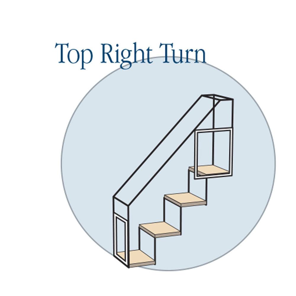 4 Step Stairs - Top Right Turn - Habitat Haven
