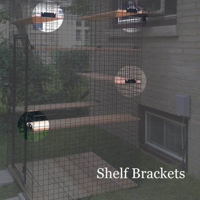 Shelf Bracket with Hardware (no wood) - Habitat Haven