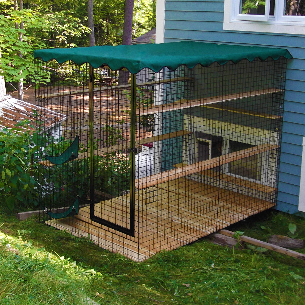 Awnings For 3 Sided Catio Enclosure - Habitat Haven
