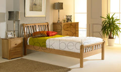 VGO Oak Bed Frame